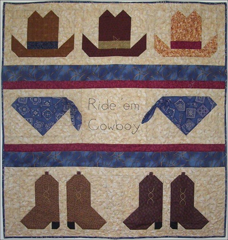 Ride 'em Cowboy Boy Baby Quilt Pattern
