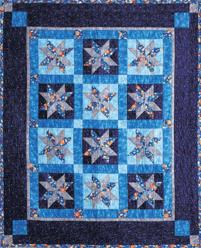 Quilt pattern designer heidi pridemore space ranger for Space fabric quilt