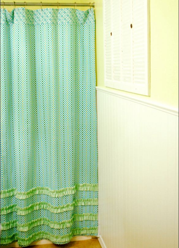 free pattern cute ruffled shower curtain by jona
