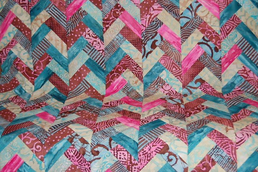 Free Tutorial Batik Braid Quilt By Jen Eskridge