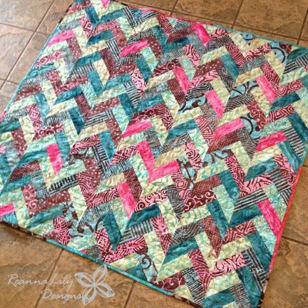 Yummy bbc pinwheel block from multiple strips