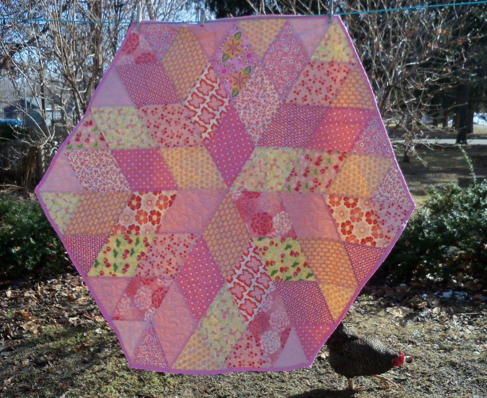 Diamond Pattern For Quilting : Free Tutorial - Diamond Quilt by Leila