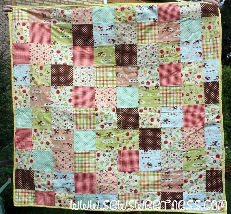 Free Tutorial - Farm Fresh Picnic Quilt by Sara Lawson