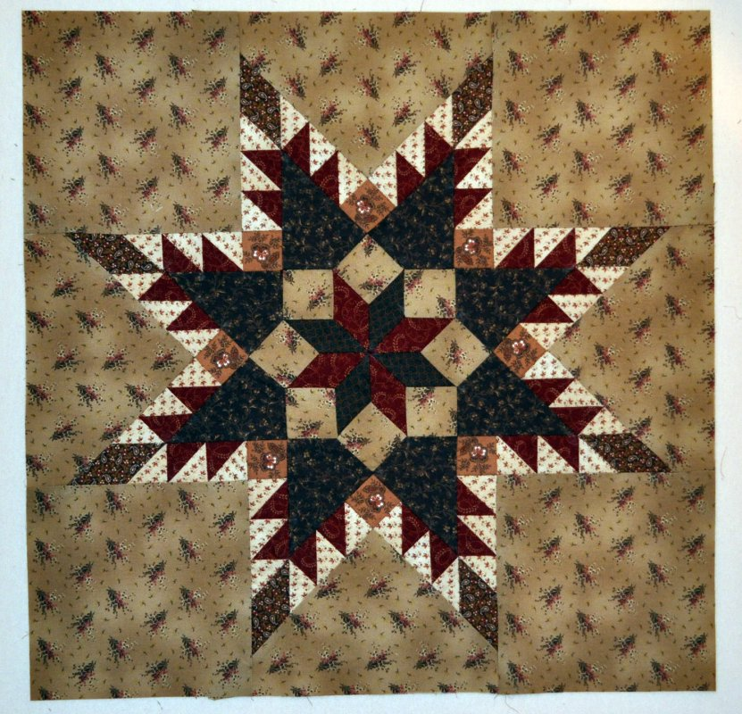 Free Pattern Feathered Star Quilt Block By Tara Lynn Darr