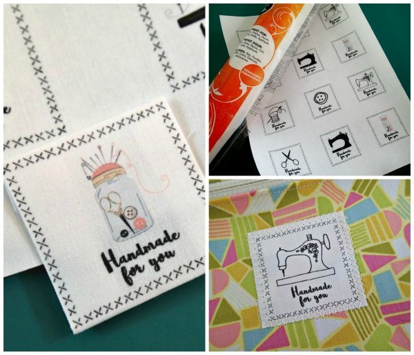 Free tutorial fabric labels for handmade gifts by deby