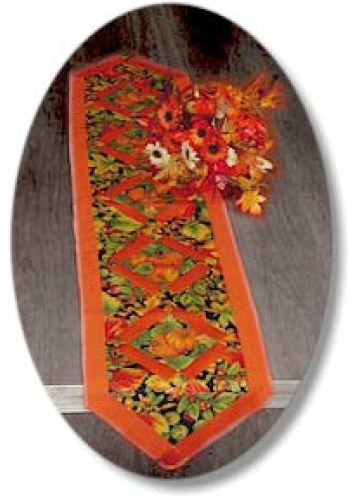 applique and patchwork pumpkin table toppers pattern