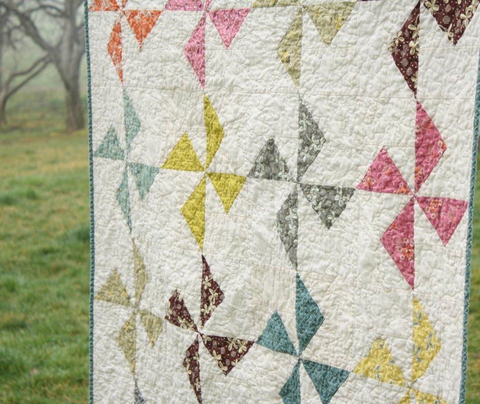 Free Tutorial - Hope Valley Flying Geese Pinwheel Quilt by Erin : pinwheel quilt pattern free - Adamdwight.com