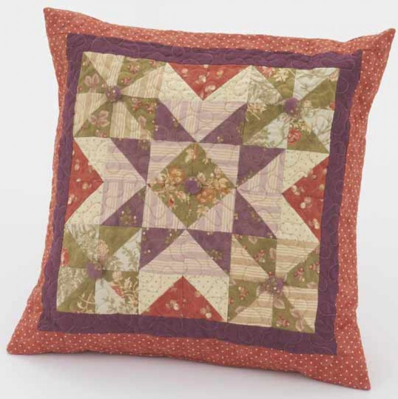 Free Throw Pillow Quilt Pattern : Free Pattern - Country Windmills Star Pillow