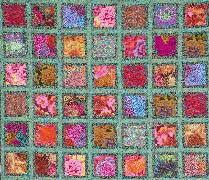 Free Pattern Jewel Frames Quilt By Kaffe Fassett And