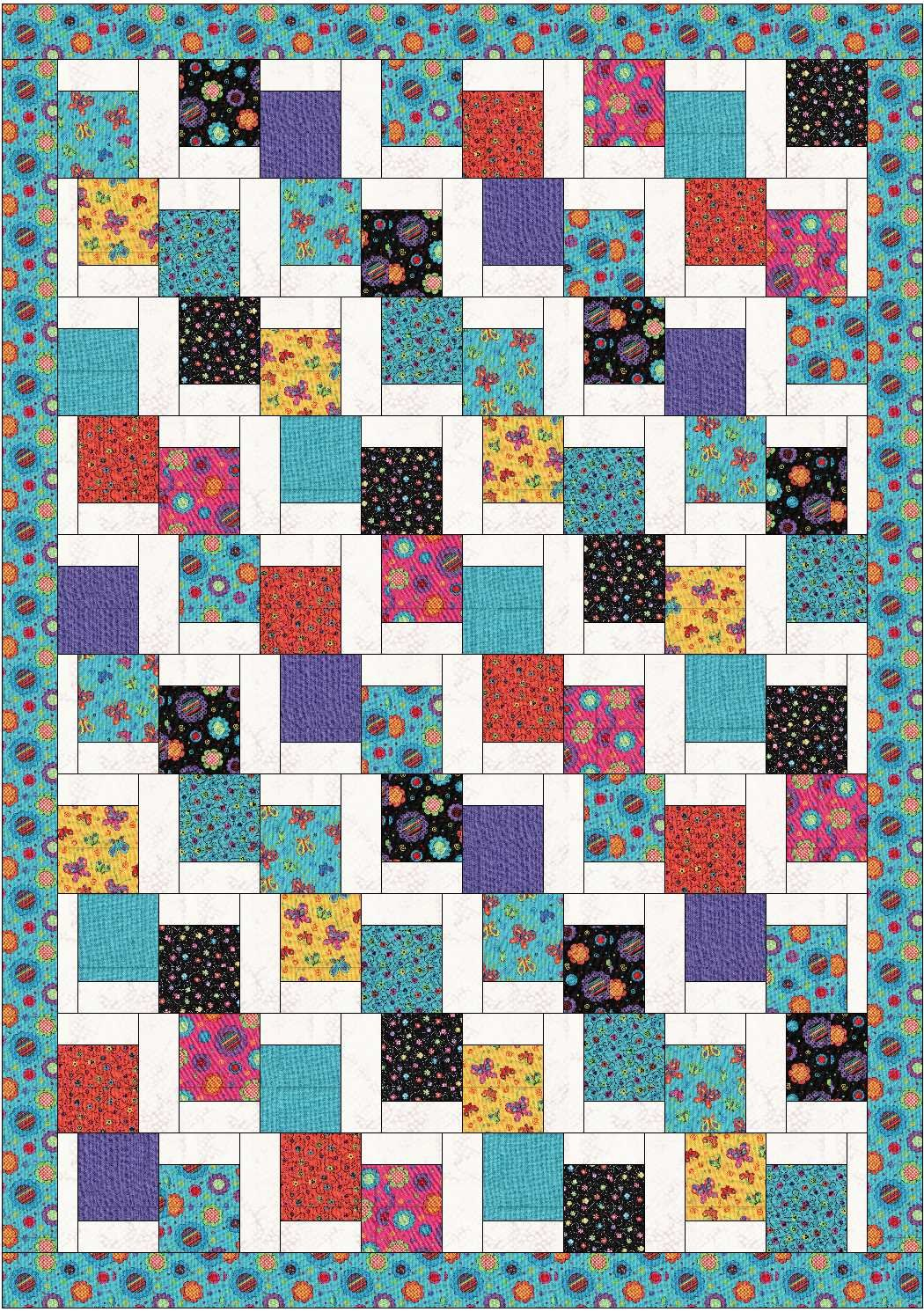 Free Pattern - Tumbling Charms Quilt from Farm Fresh Fabrics : falling charm quilt - Adamdwight.com