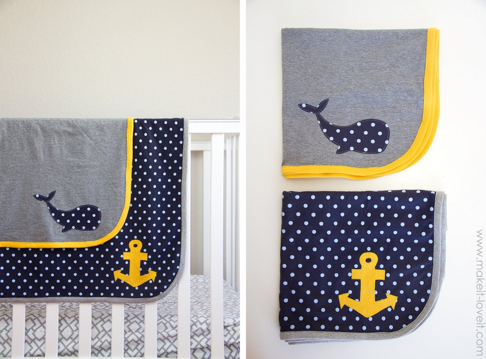 Easy Knit Receiving Blanket : Free Tutorial - Knit Receiving Blankets for Baby Boy