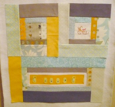 Make a pillow in a quilt - sewing