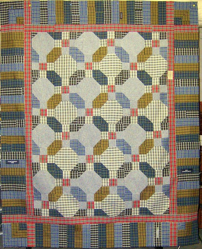 Quilt Patterns From Men S Shirts : Free Tutorial - Men s Shirt Quilt by Nancy-Rose