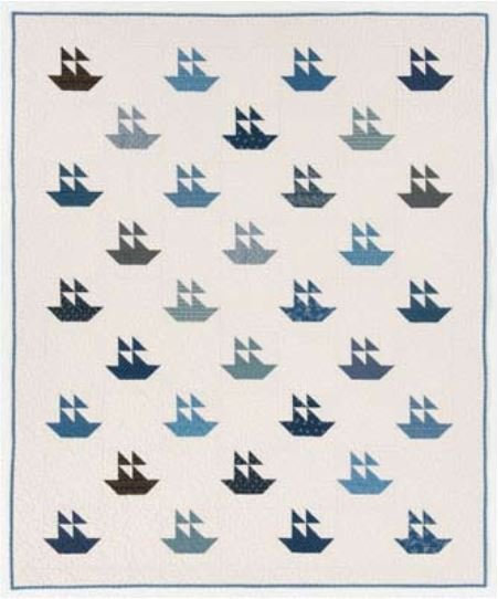 Free Pattern - Naturally Nautical Quilt from QuiltMag