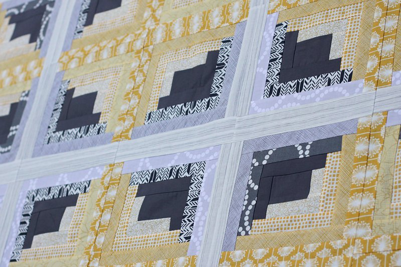 Free Tutorial Rectangle Log Cabin Quilt By Kirsty Cleverly