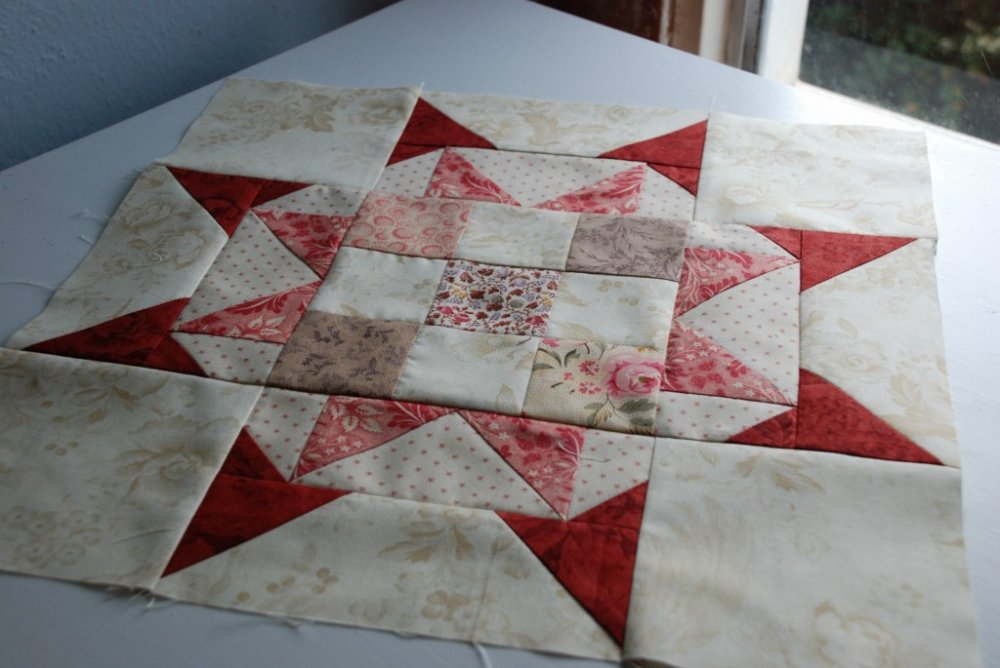 Free Tutorial Star Block By Sarah Of Anyone Can Quilt