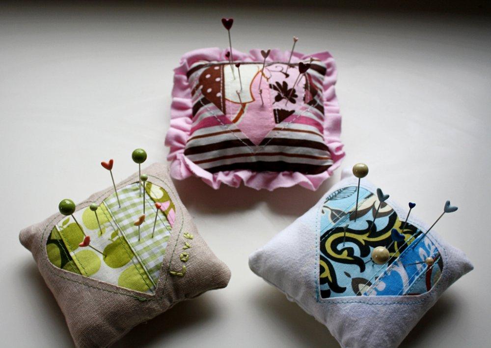 Making a pin cushion