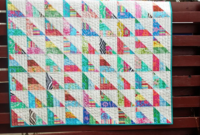 Free Tutorial To The Point Jelly Roll Quilt By Amy Gibson