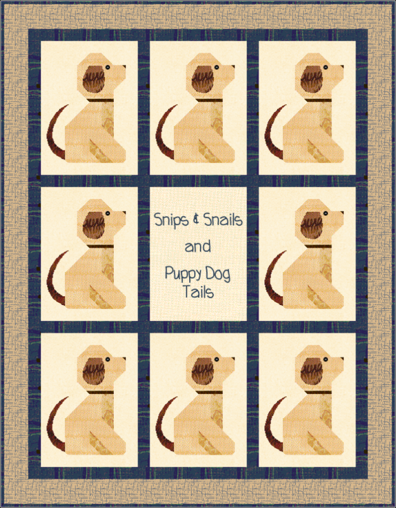 Puppy Dog Tails Boy Baby Quilt Pattern
