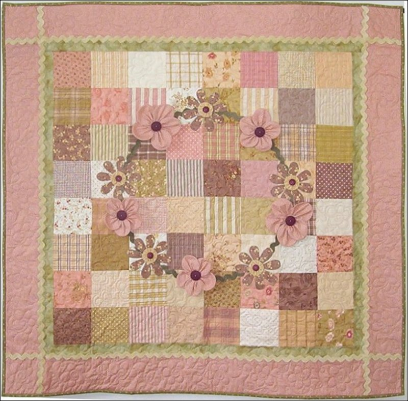 Ring Around The Rosies Girl Baby Quilt Pattern