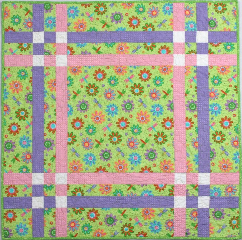 Free Quilt Patterns For Large Prints : Criss Cross Quilt Pattern