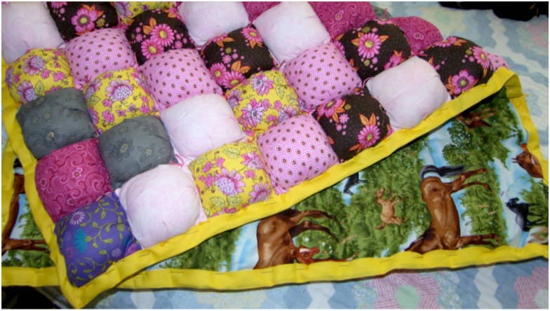 Free Pattern Intro To Puff Quilts By Mary Jane Cardwell