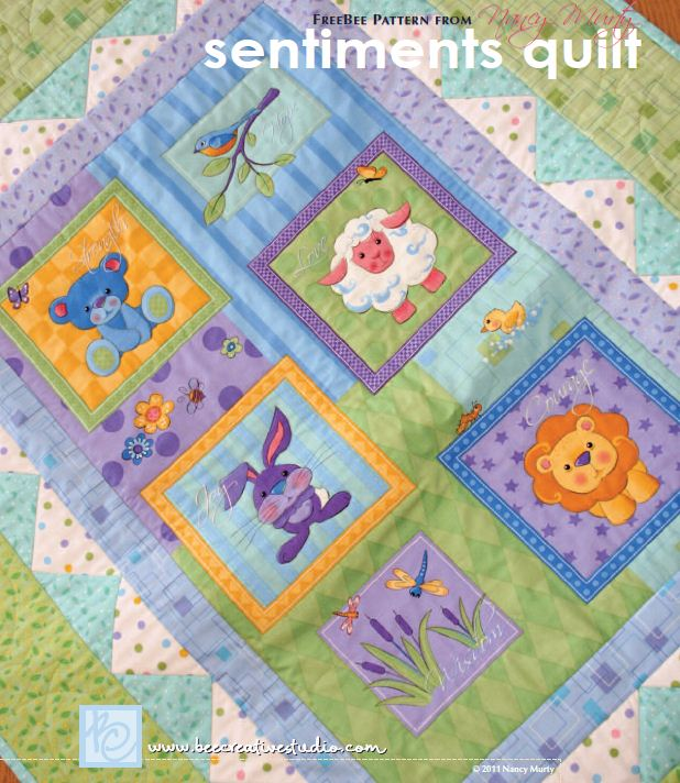 Free Pattern Sentiments Quilt By Nancy Murty For Andover