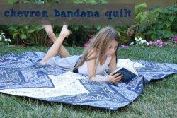 Chevron Bandana Quilt By Lindsey Cheney