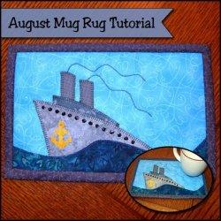 Ship Sea Mug Rug
