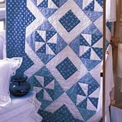 Blue Breeze Lap Quilt By Ann Weber McCalls