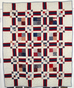 Scrappy Squares and Bars Quilt