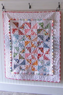 Pinwheel Baby Quilt by Jodi Nelson for Moda