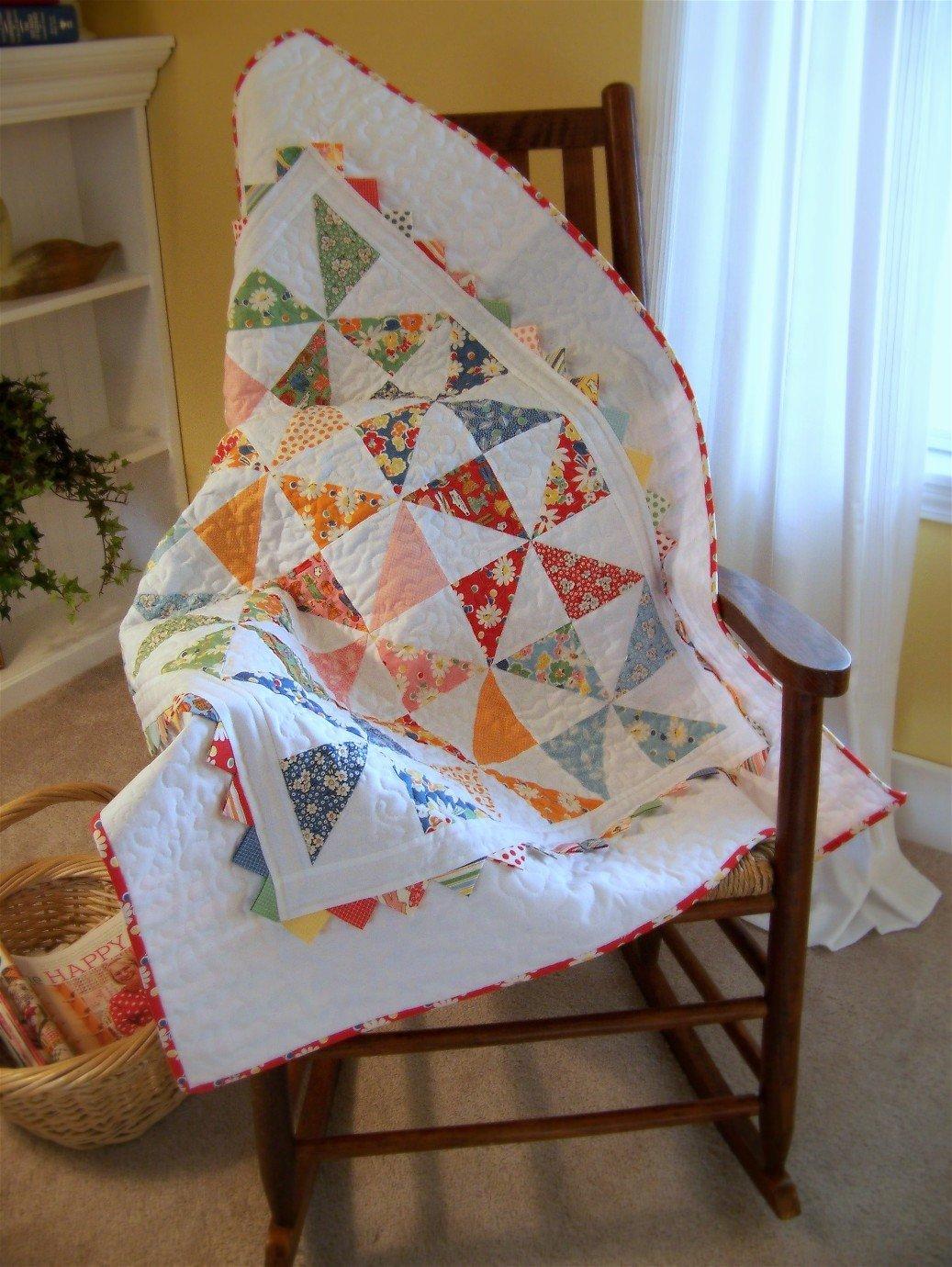 Free Tutorial Pinwheel Baby Quilt By Jodi Nelson For Moda