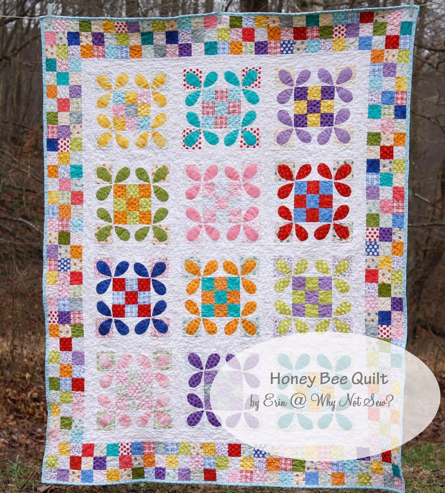 Honey Bee Quilt By Erin Cox