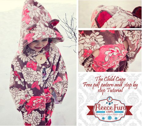 Free Pattern Child's Cape Or Car Seat Poncho By Angel Awesome Car Seat Poncho Pattern