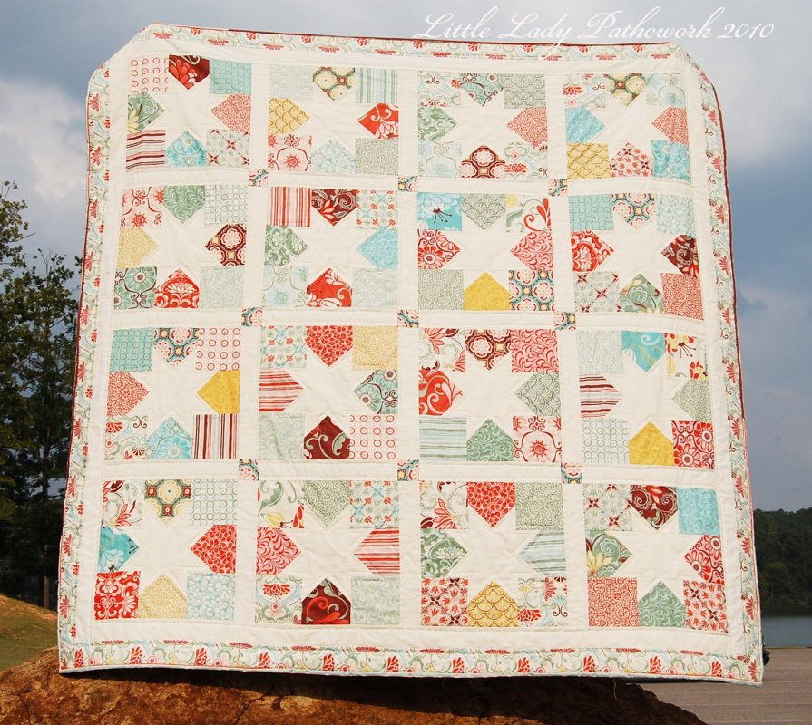 Free Tutorial Charming Stars Quilt By Stefanie