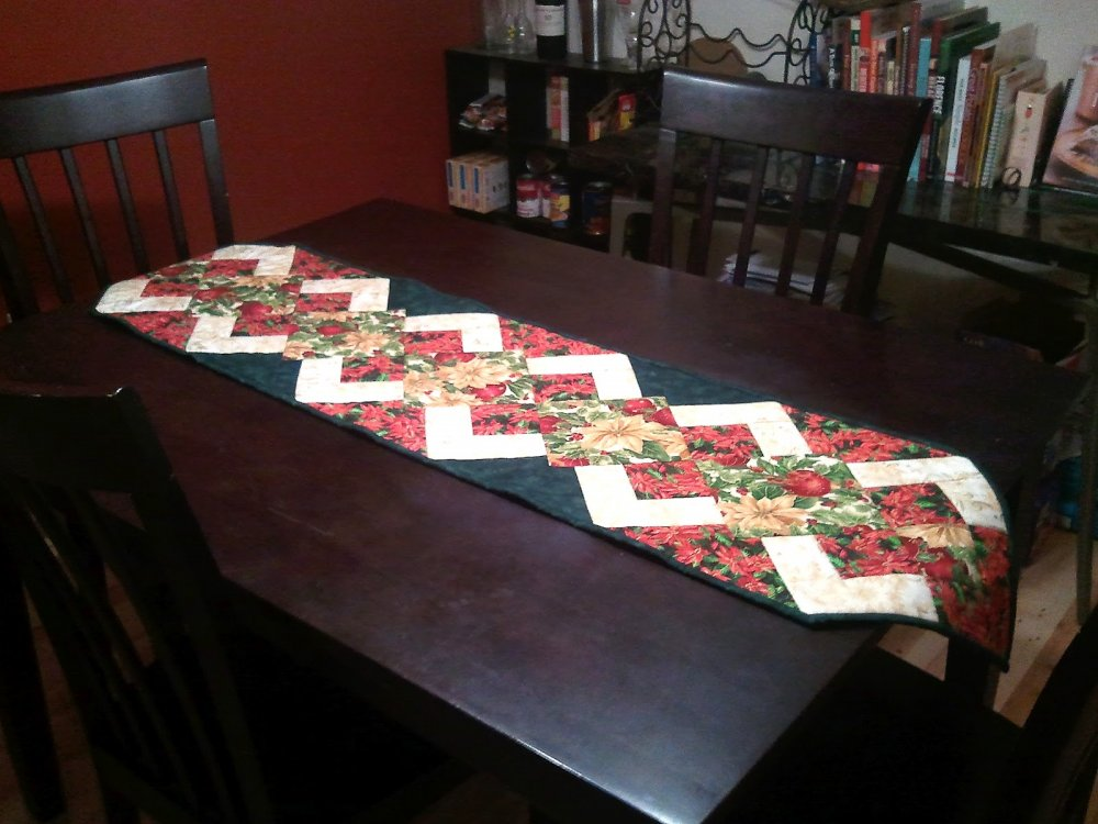 Admirable Free Tutorial Christmas Runner Tutorial By Karen Paschke Home Remodeling Inspirations Propsscottssportslandcom