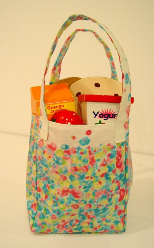 Free Tutorial Oilcloth Mini Shopping Bag By Vanessa