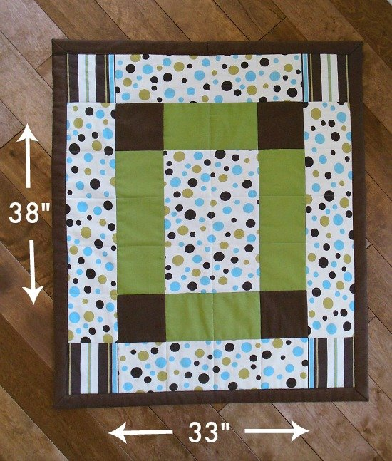 Free Tutorial How To Make A Baby Quilt By So Sew Easy