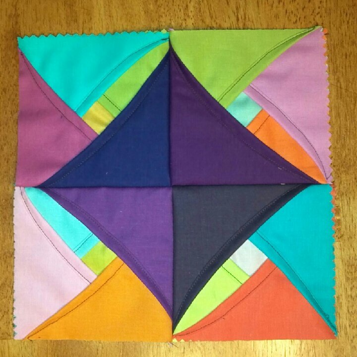 Free Pattern Cathedral Window Quilt Along Block One
