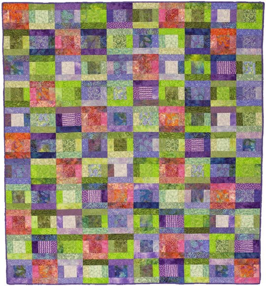 Splashes Of Color Batik Quilt