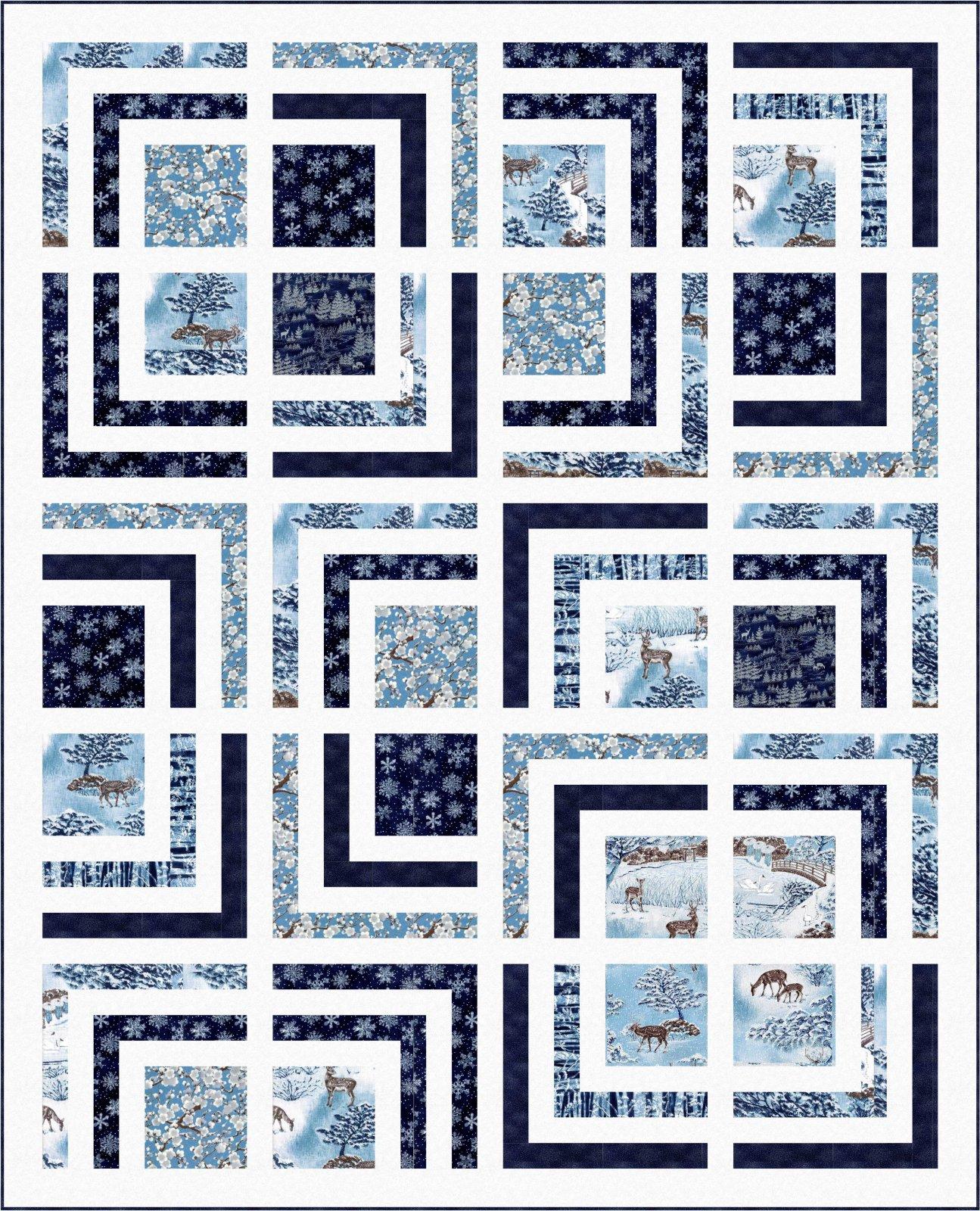 Free Pattern Yuki Quilt By Wendy Sheppard