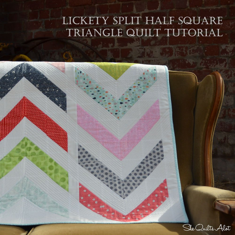 Free Tutorial Lickety Split Half Square Triangle Quilt By Peta Peace
