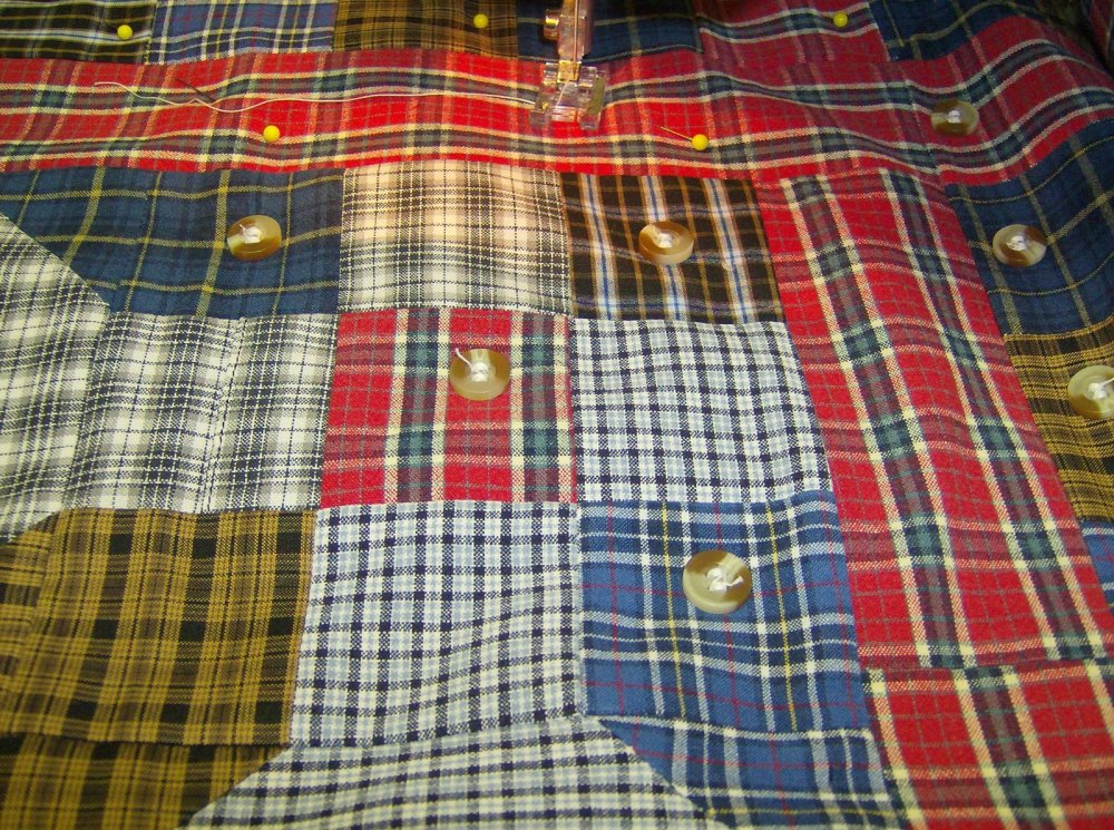 Free Tutorial Men S Shirt Quilt By Nancy Rose