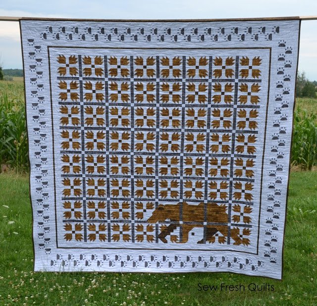 Free Tutorial Mod Bear Paw Quilt