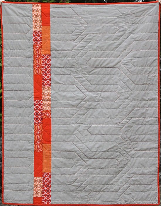 Free Tutorial Modern Chevron Baby Quilt By Kirsty