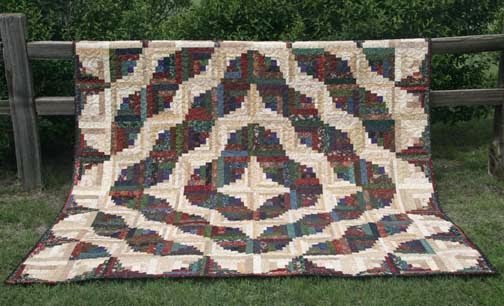 Free Pattern Curvy Log Cabin Quilt By Sharla