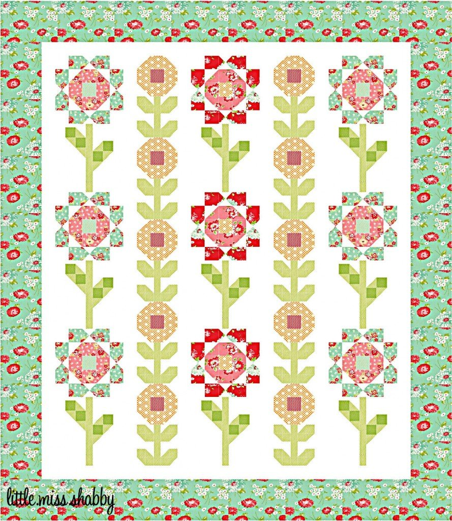 Free Pattern Flower Drops Quilt By Corey Yoder
