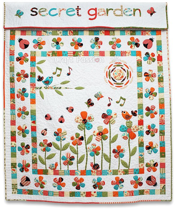Secret Garden Trapunto Quilt By Joanne