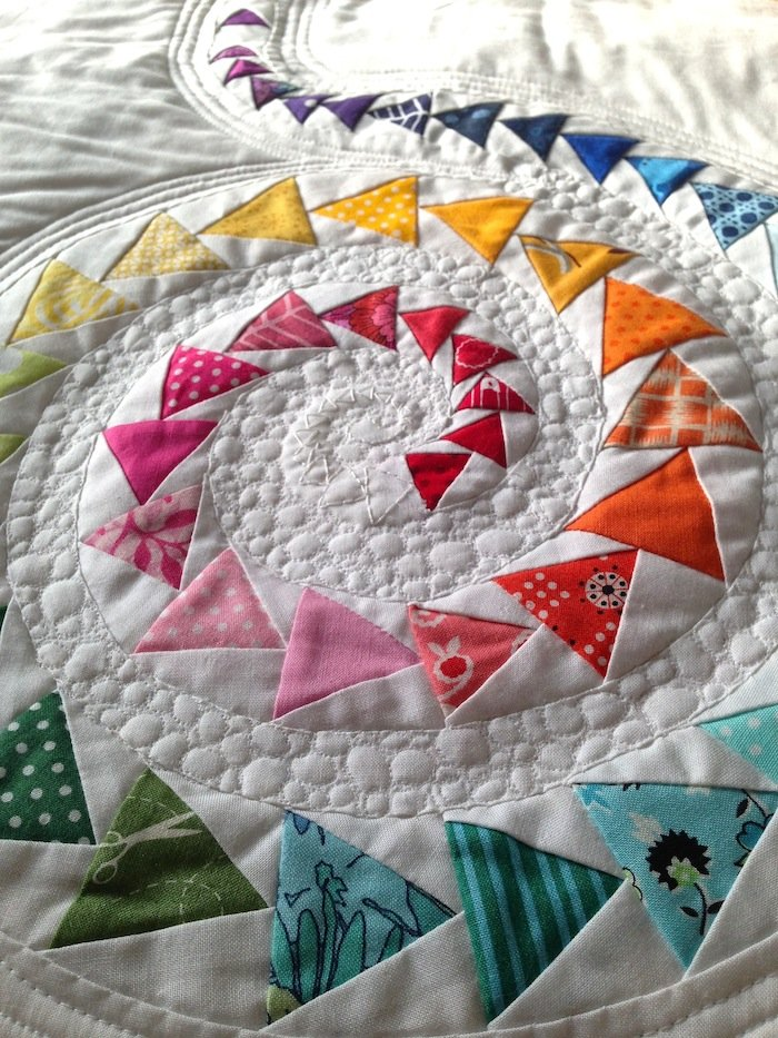 Free Tutorial Spiral Geese Mini Quilt By Janice Zeller